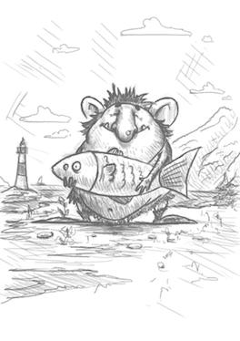 Troll med fisk